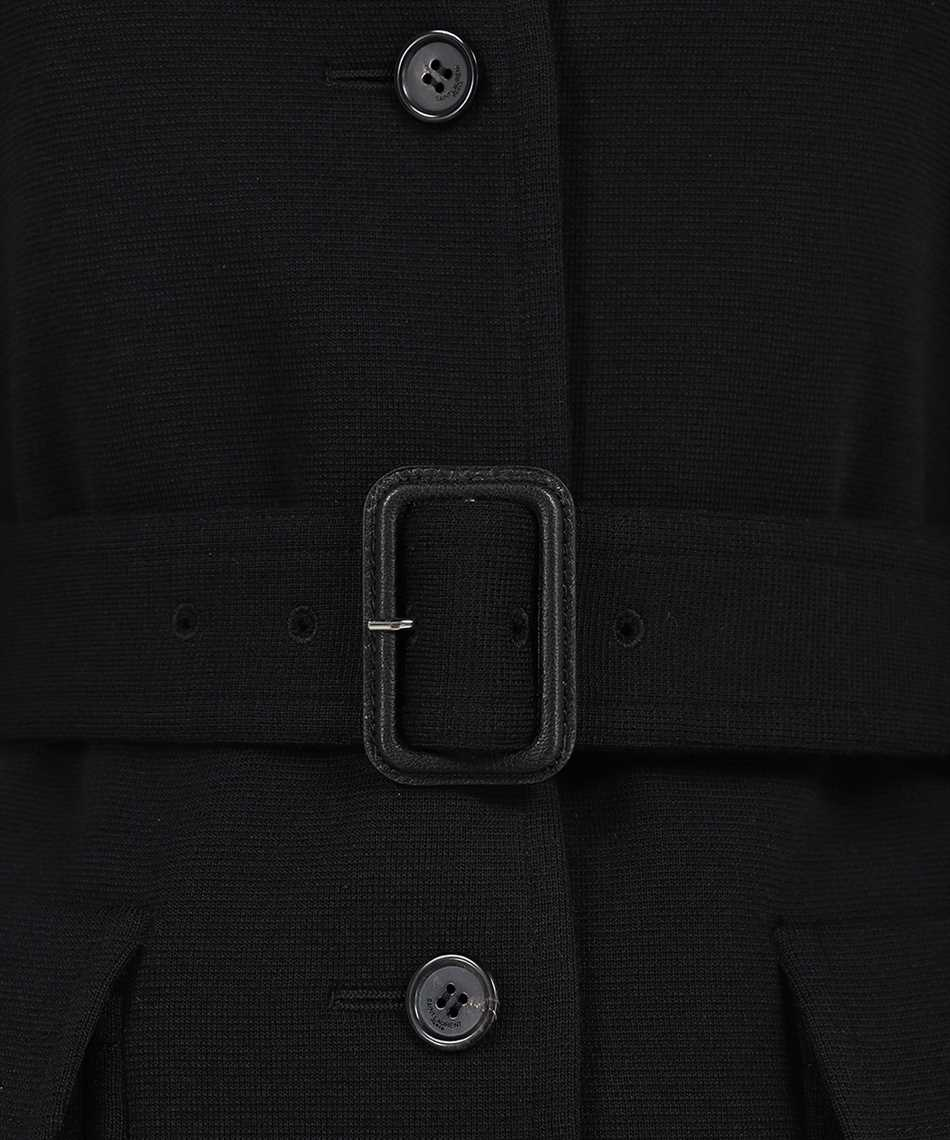 Saint Laurent 657668 Y288V LONG BELTED WOOL Cappotto 3