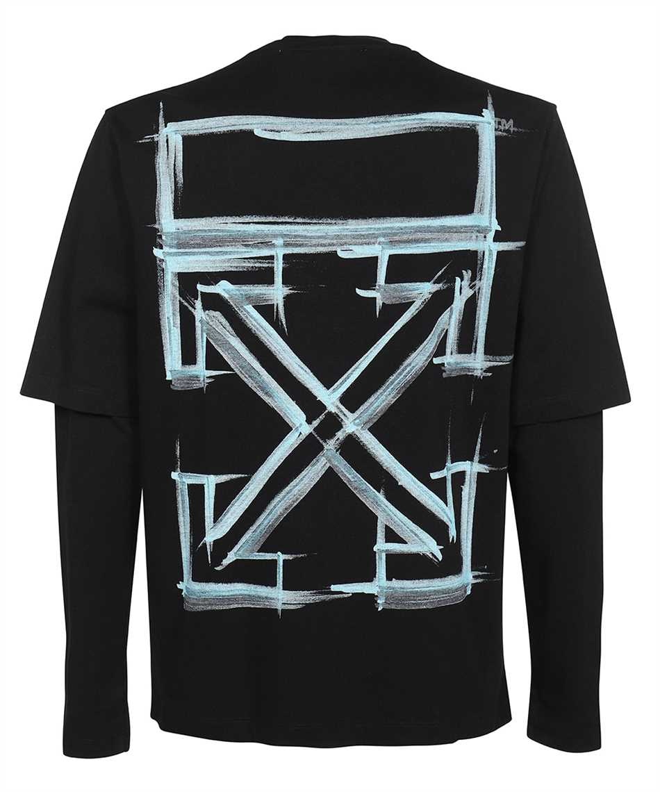 Off-White OMAB066F21JER011 MARKER DOUBLE SLEEVE T-Shirt 2