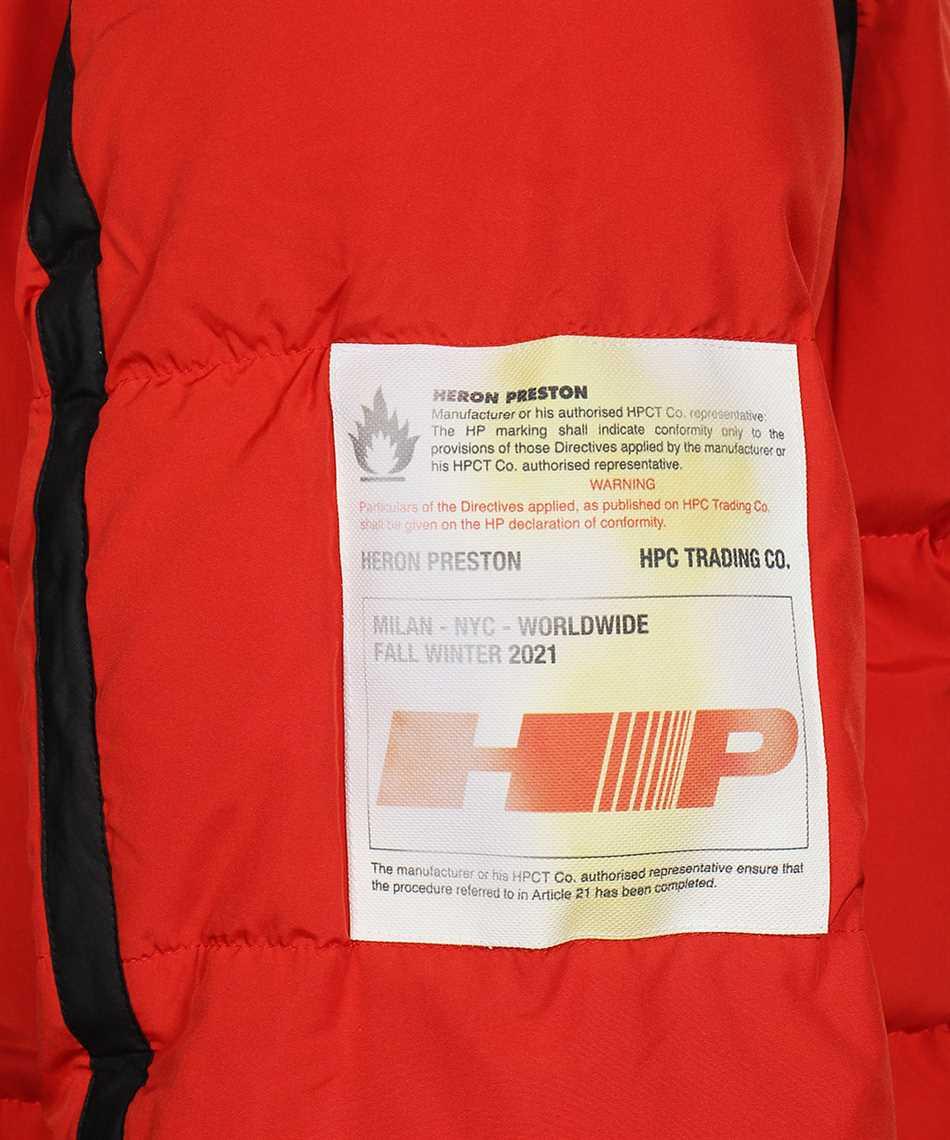Heron Preston HMED008F21FAB001 LABEL NYLON PUFFER Jacket 3