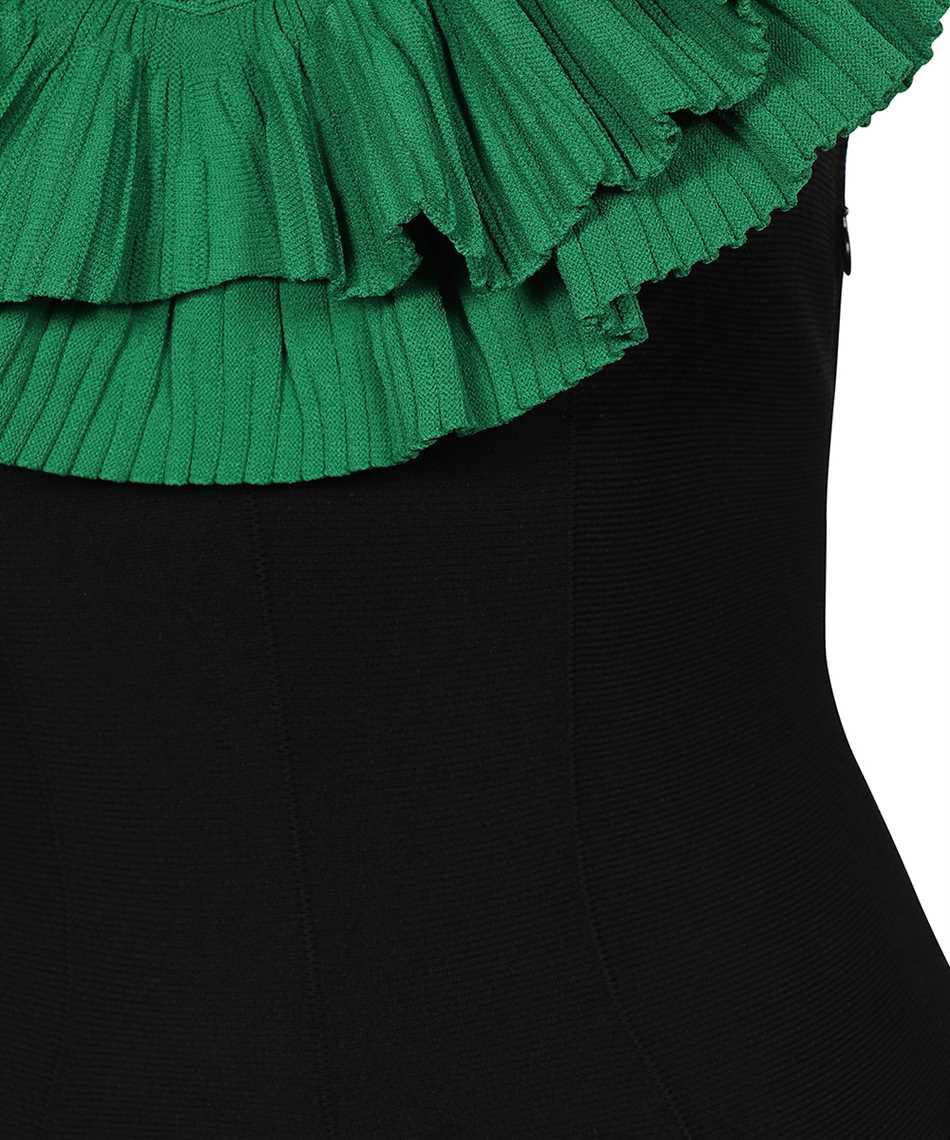 Alexander McQueen 667830 Q1AVP SCULPTURAL RUFFLES KNIT MIDI Dress 3