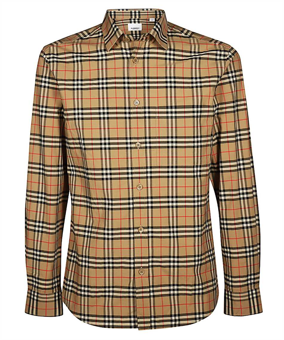 Burberry 8020966 SMALL SCALE CHECK STRETCH COTTON Shirt 1