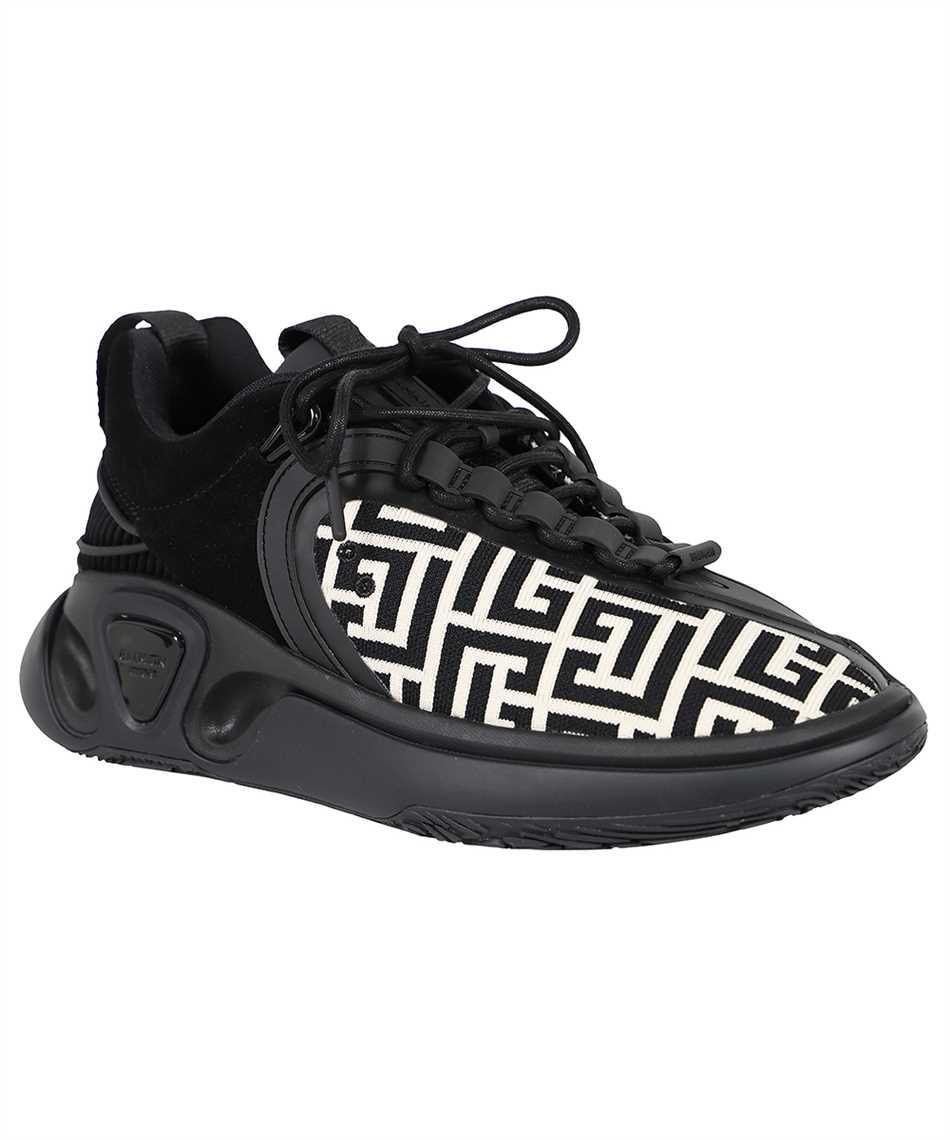 Balmain WM0VI261TKNM B RUNNER-MONOGRAM KNIT&SUEDE Sneakers 2