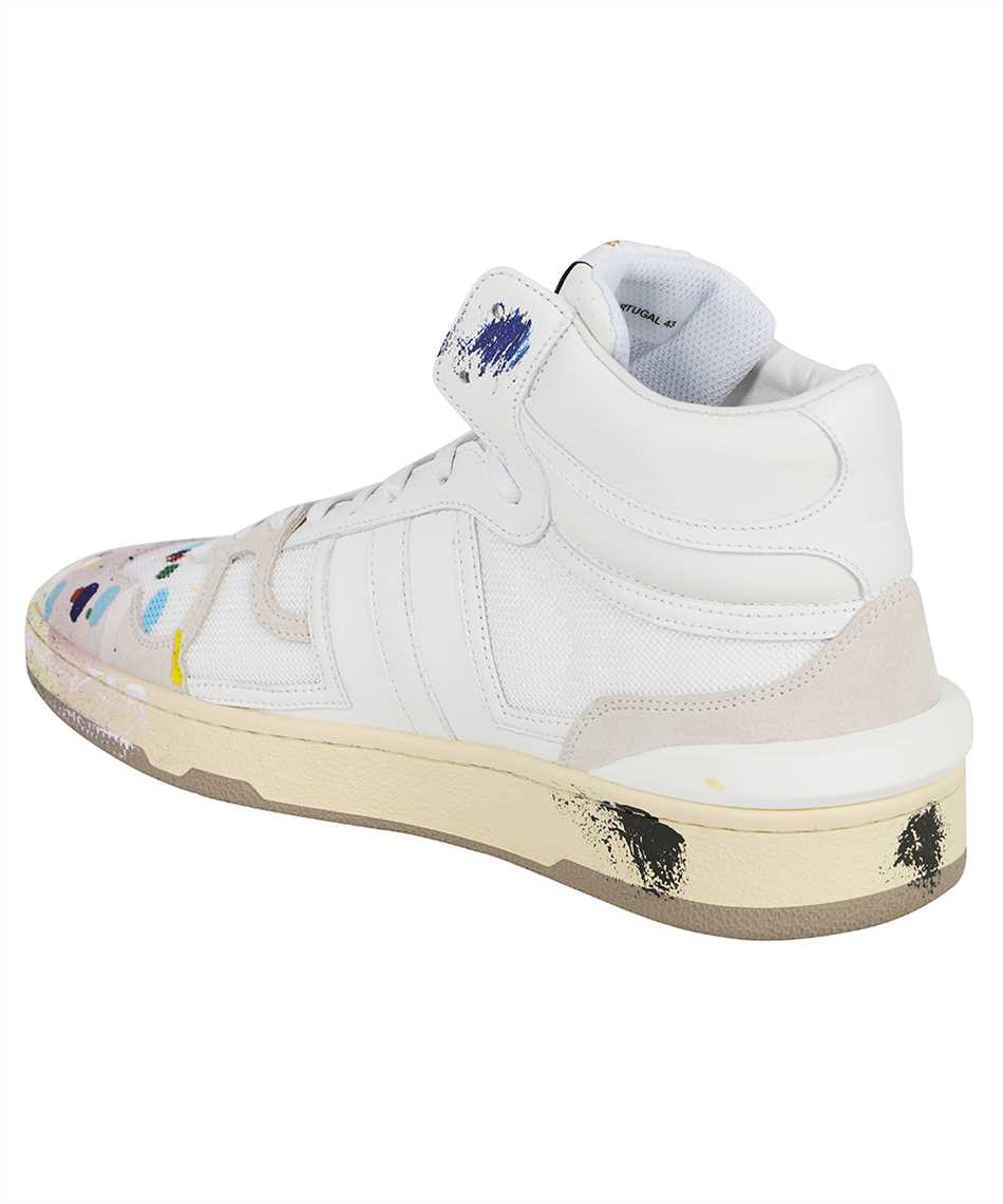 Lanvin FM SKDK01 NAGD E21 PAINTED MESH CLAY HIGH-TOP Sneakers 3