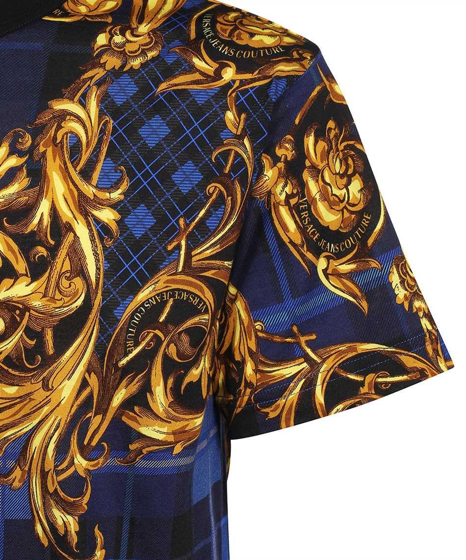 Versace Jeans Couture 71GAH6R6 JS025 TARTAN BAROQUE PRINT T-shirt 3