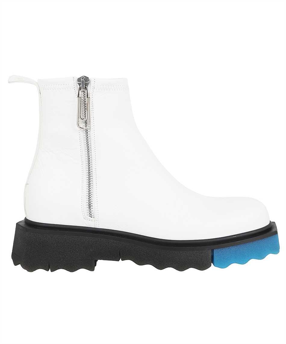 Off-White OMID004F21LEA001 SPONGE SOLE LEATHER ZIP Stiefel 1