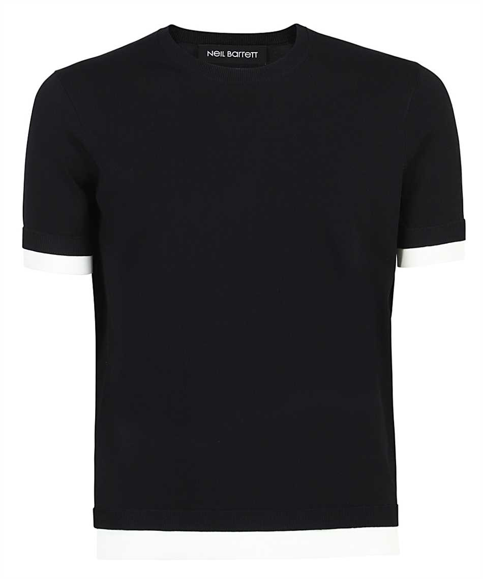 Neil Barrett PBMA1153E Q601 TRAVEL TECNO KNIT T-shirt 1