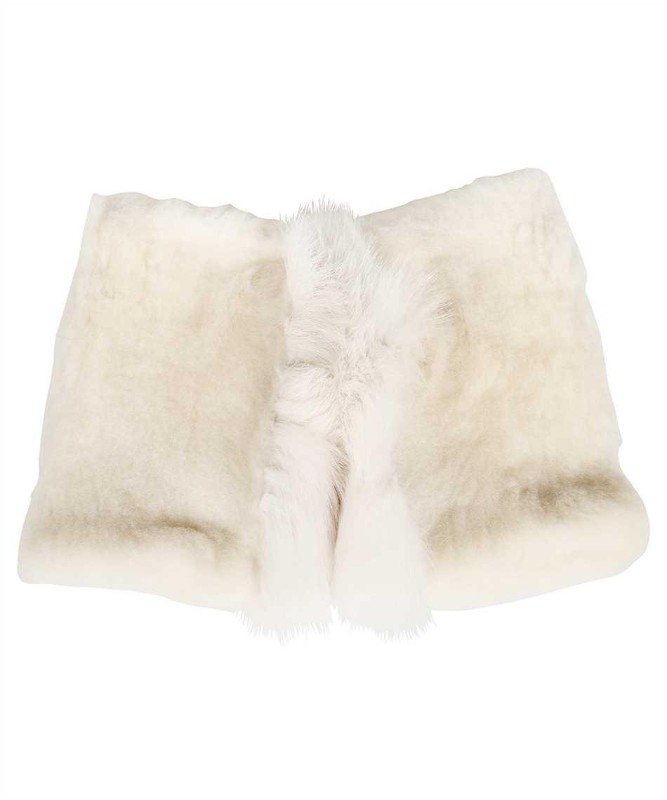 Karl Donoghue CMFCFW1 SHEARLING & SAGA FOX FUR FINGERLESS Gloves 1