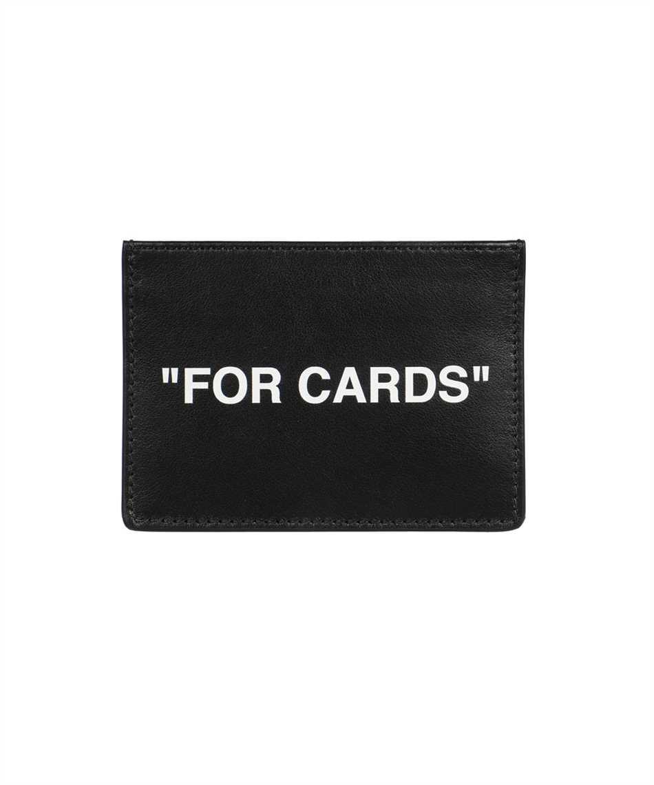 Off-White OMND017F21LEA004 CALF SKIN QUOTE Card holder 1