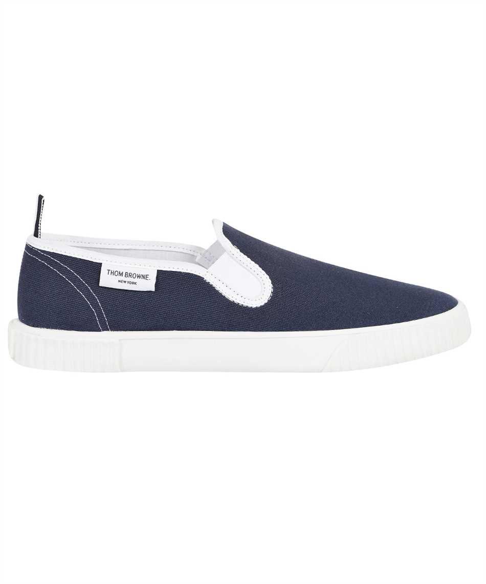 Thom Browne MFL064A 01588 CANVAS SLIP-ON HERITAGE TRAINER Sneakers 1