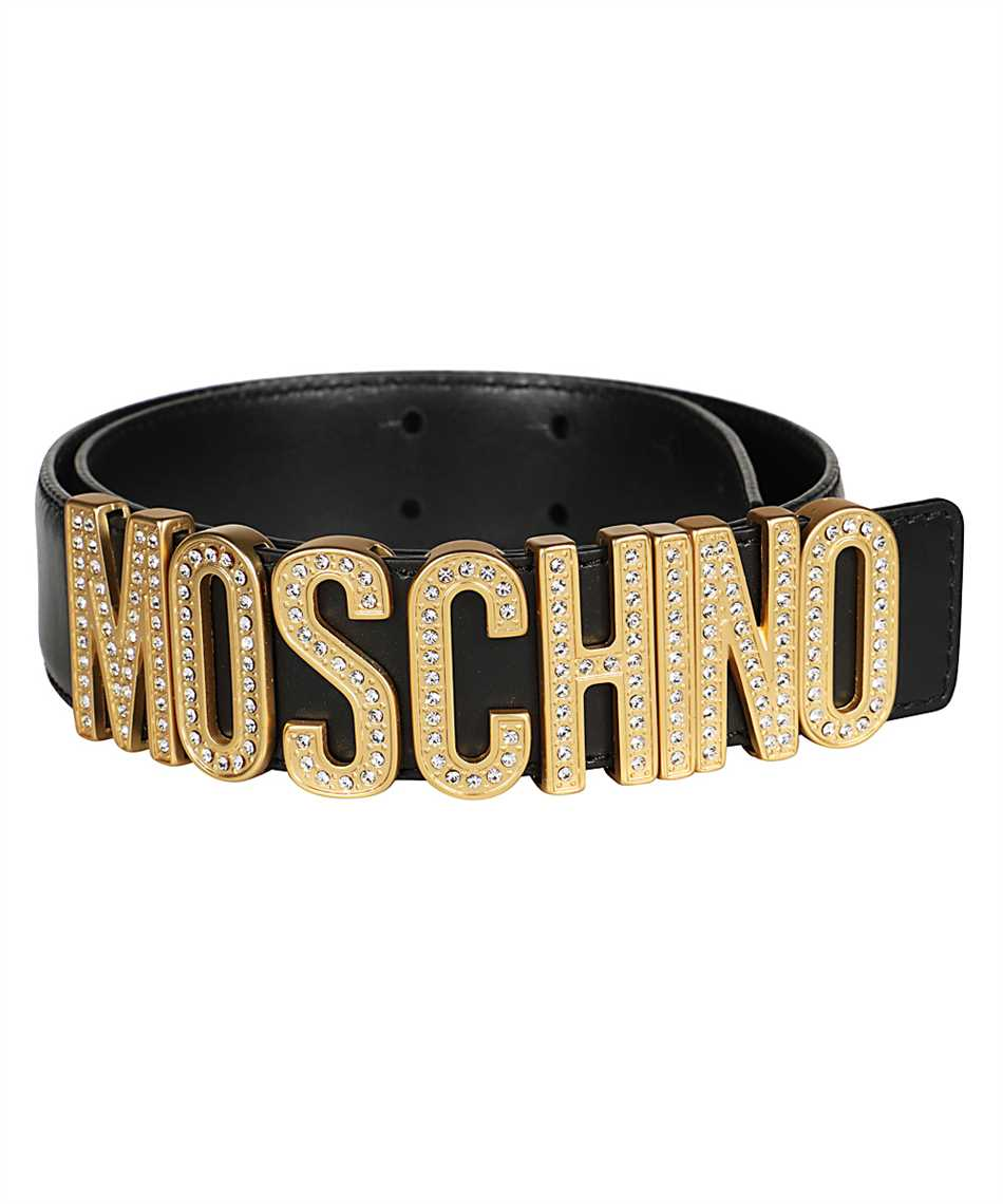 Moschino A8013 8006 RHINESTONES LOGO Gürtel 2