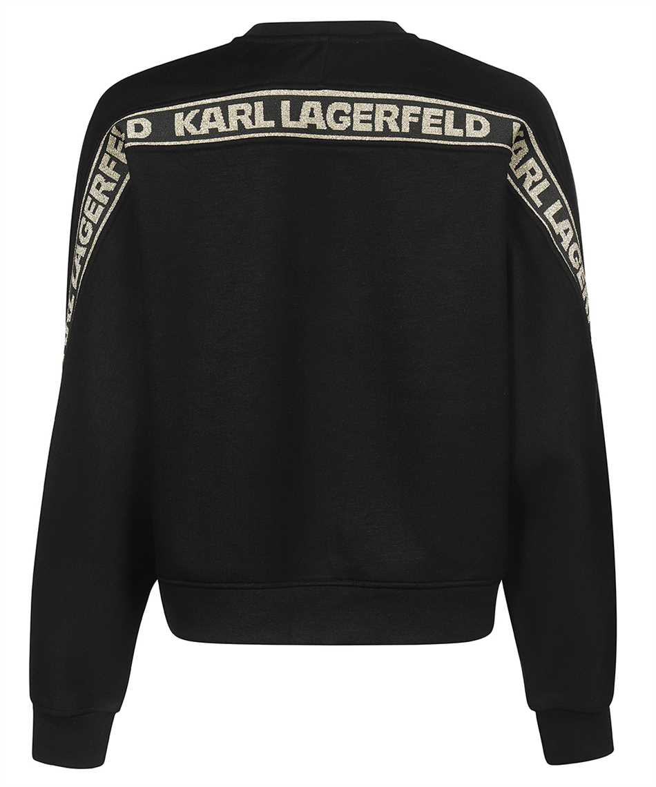 Karl Lagerfeld 216W1807 METALLIC GOLD KARL LOGO TAPE Felpa 2