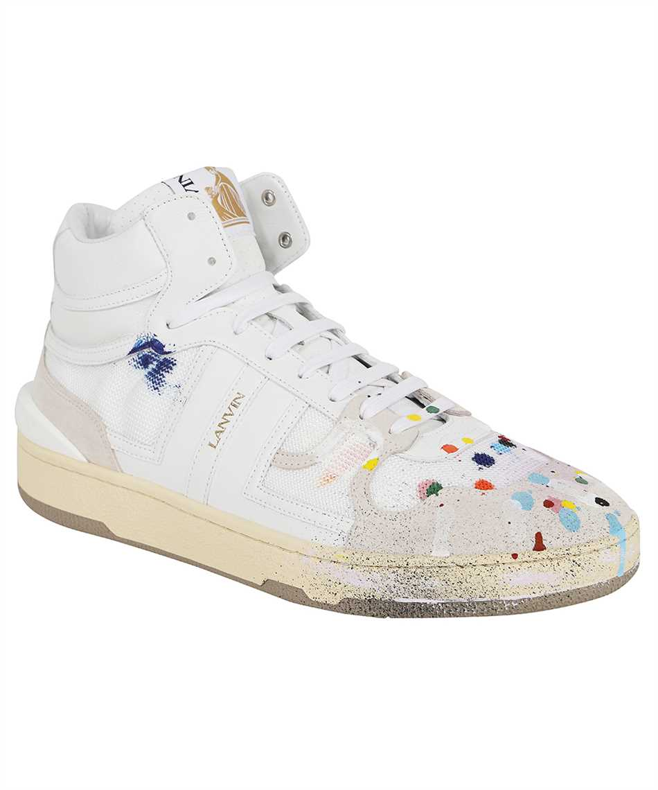 Lanvin FM SKDK01 NAGD E21 PAINTED MESH CLAY HIGH-TOP Sneakers 2