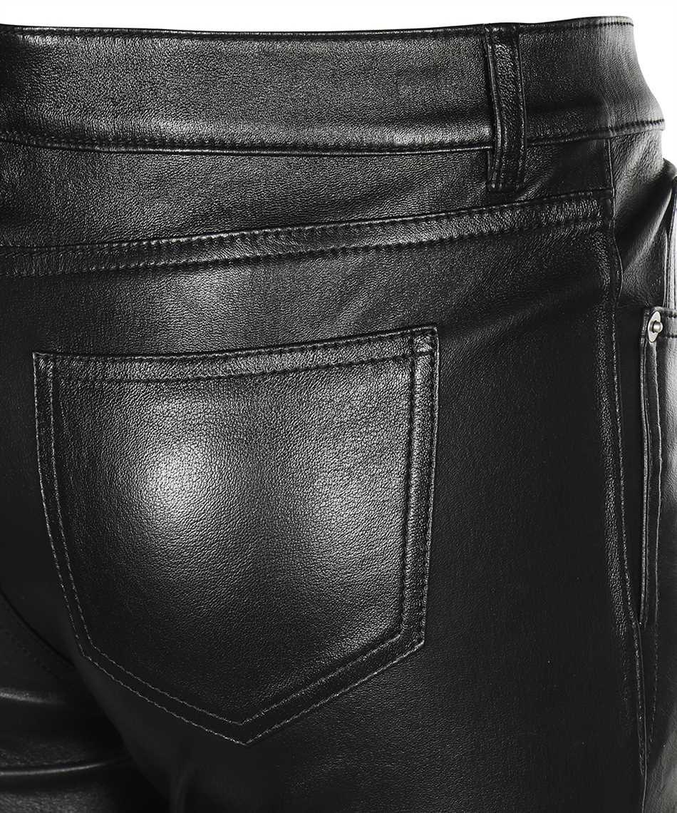 Saint Laurent 496409 Y5RG2 BLACK LEATHER SIGNATURE LOW WAISTED SKINNY Jeans 3