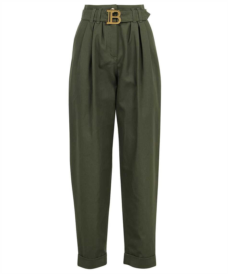 Balmain WF0MH021D152 BELTED BOYFRIEND Jeans 1