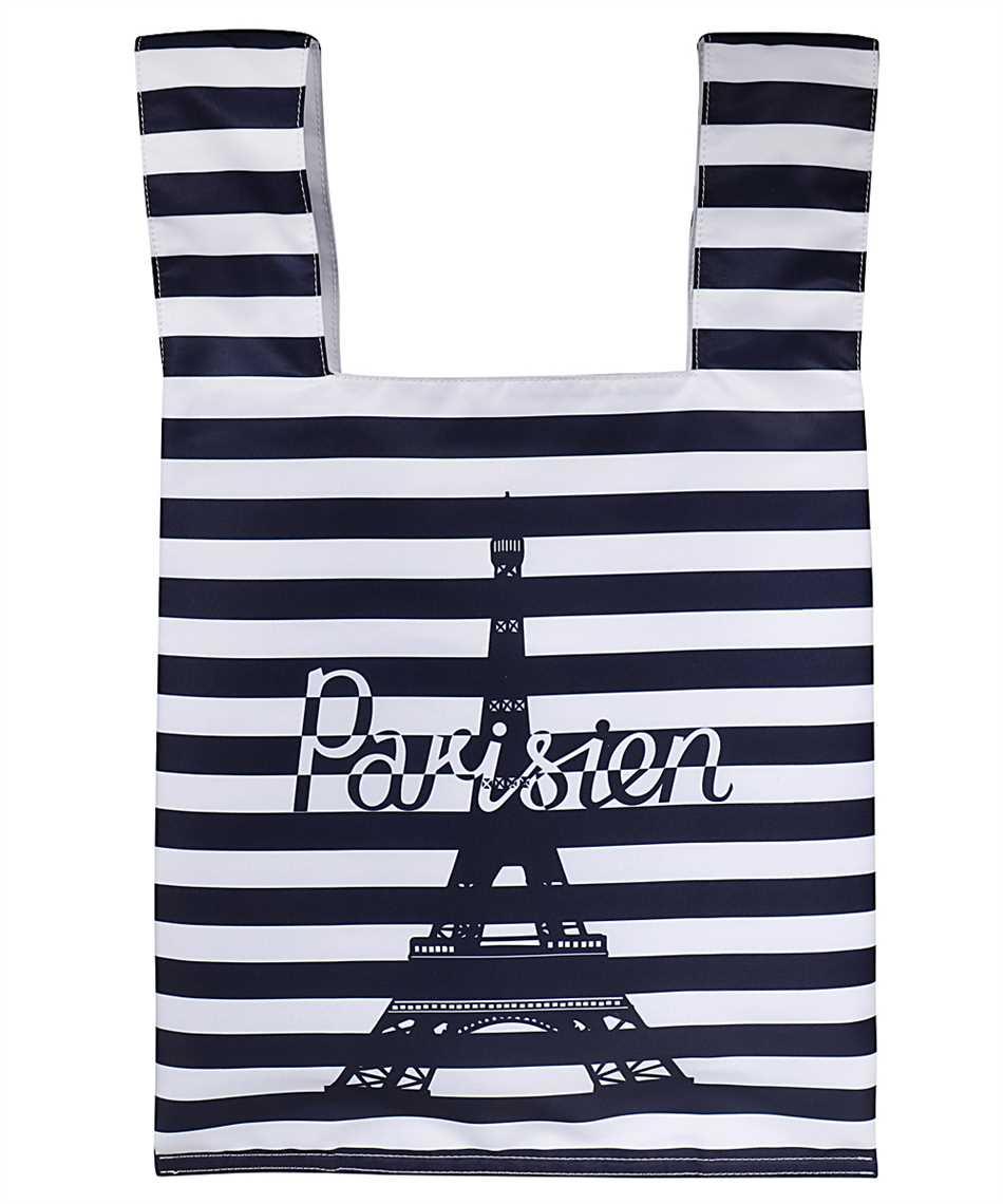 Maison Kitsune GU06125WQ40008 PARISIEN TOWER STRIPES NYLON Borsa 2