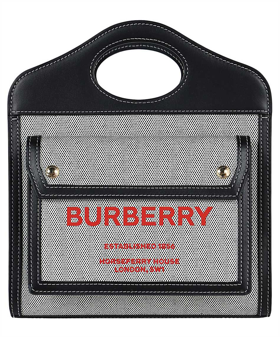 Burberry 8036814 MINI TWO-TONE CANVAS AND LEATHER POCKET Bag 1