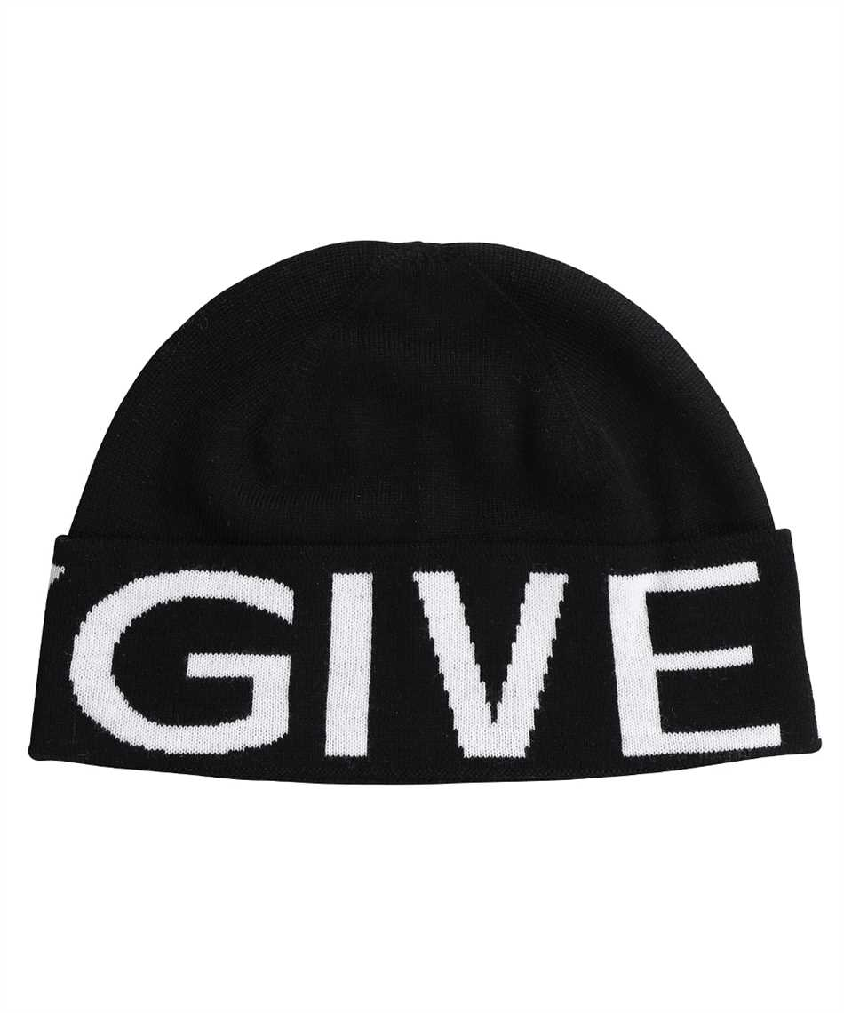 Givenchy BPZ02X P0DB KNITTED LOGO Cappello 1