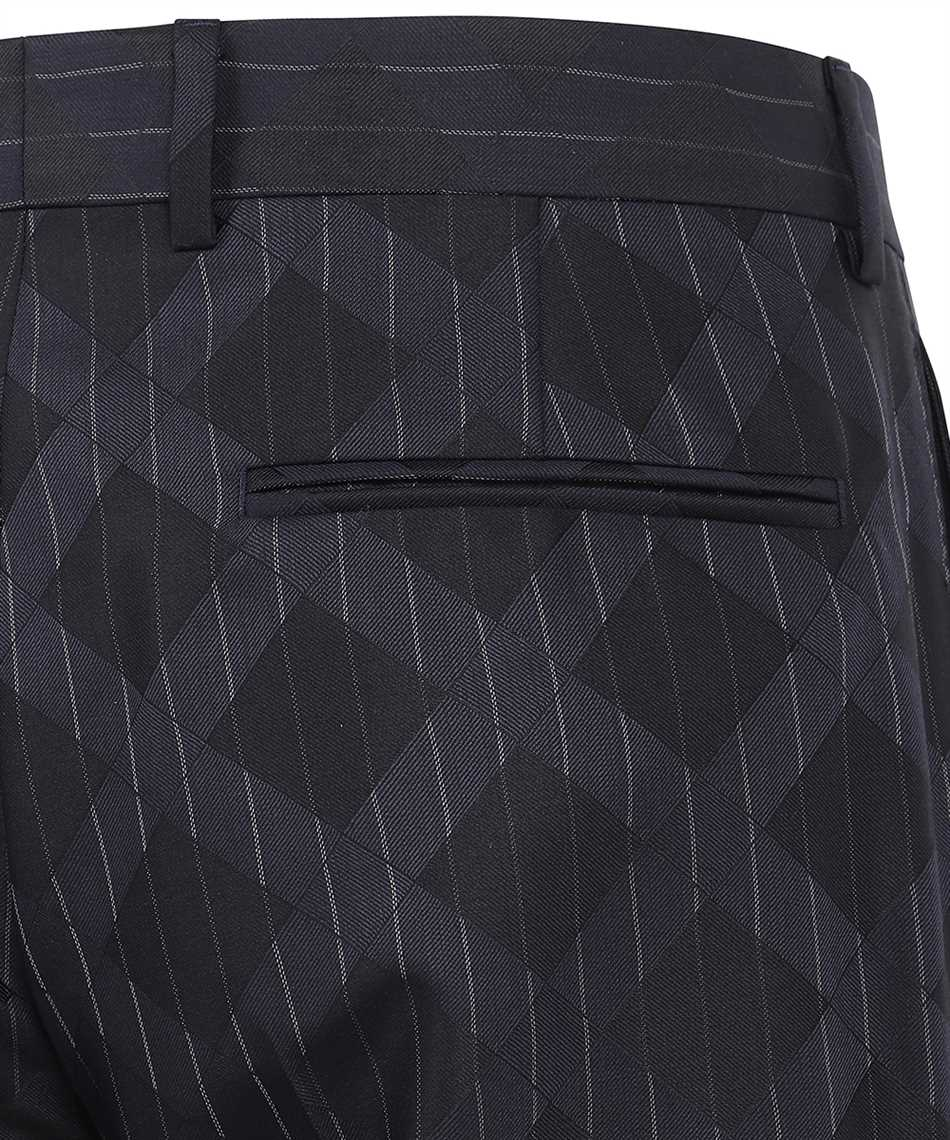 Versace A89256 1A00895 PINSTRIPE ARGYLE WOOL JACQUARD Trousers 3