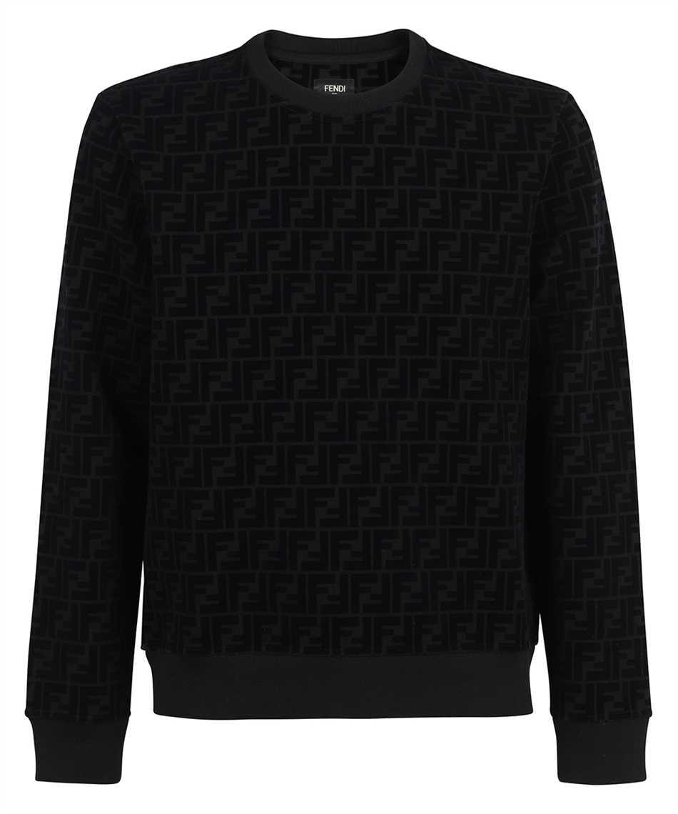 Fendi FY1077 AFRJ FF PIQUET PRINT Sweatshirt 1