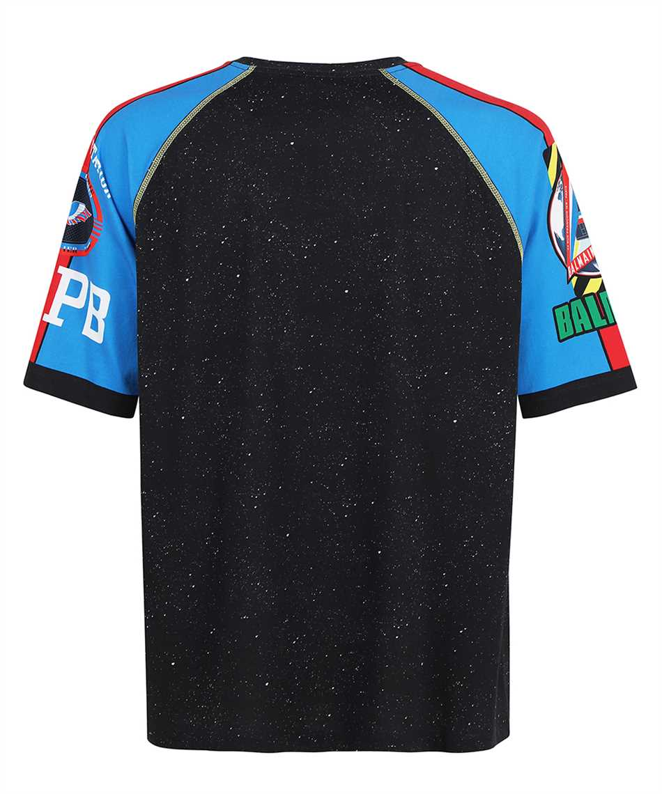 Balmain WH0EH006G119 SPACIAL PRINTED 3/4 SLEEVES T-Shirt 2