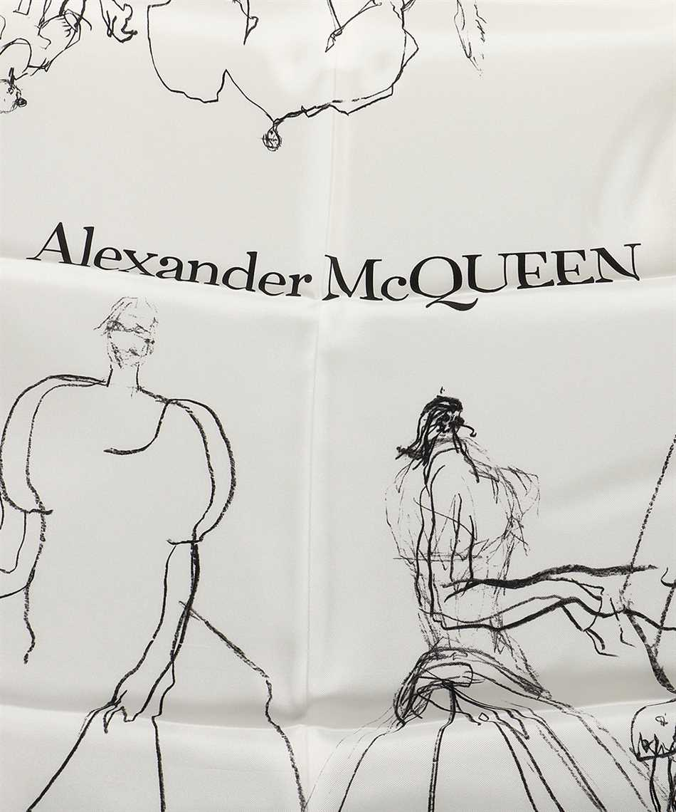 Alexander McQueen 619877 3001Q DANCING GIRLS Sciarpa 2
