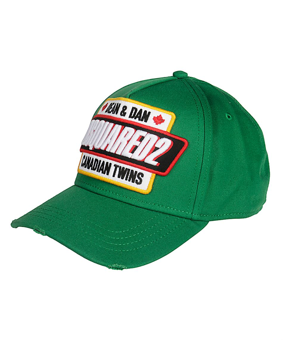 75c61cb46 Dsquared2 BCM0185 08C00001 green baseball cap with logo Green