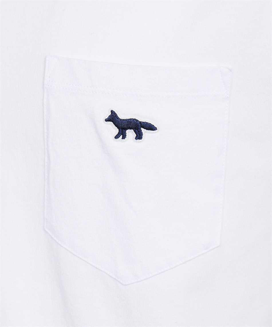 Maison Kitsune HM00136KJ0008 FOX PATCH CLASSIC POCKET T-Shirt 3
