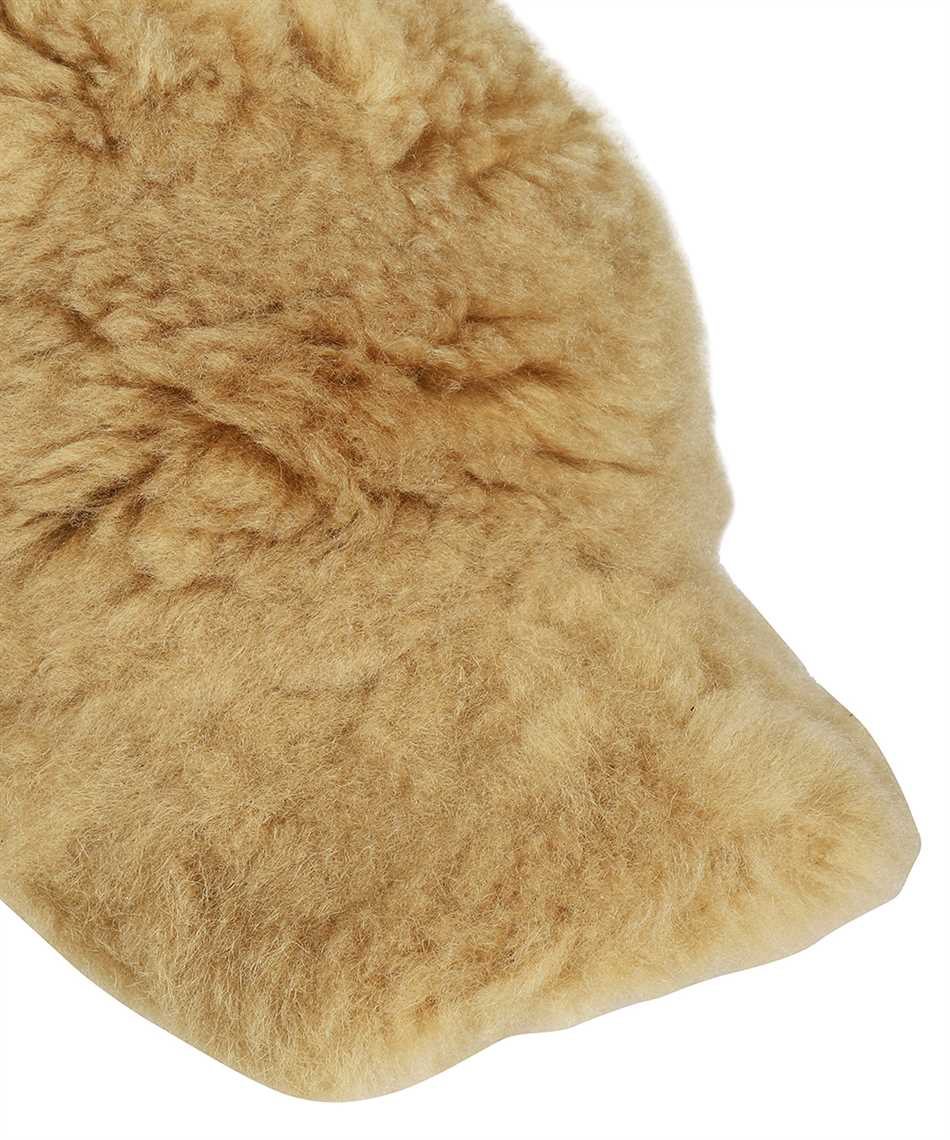 Karl Donoghue CMFPCW1 CASHMERE TOUCH SHEARLING WITH FOX FUR POM Cap 3