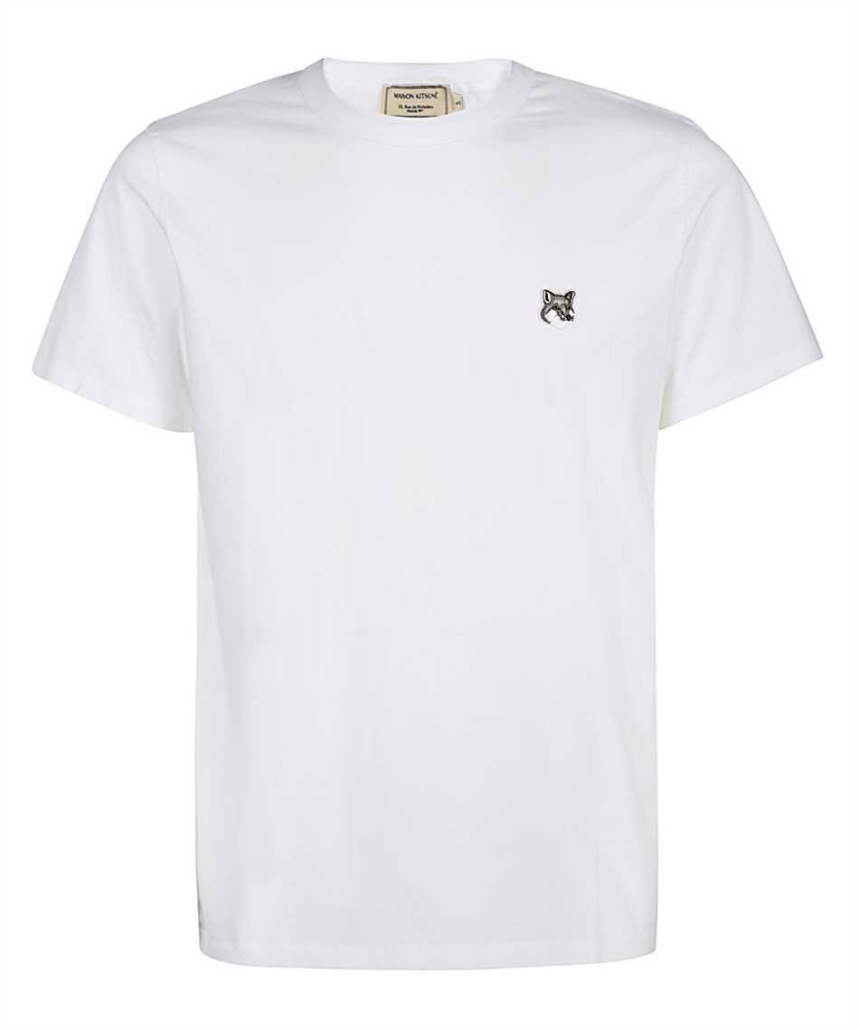 Maison Kitsune GM00118KJ0008 GREY FOX HEAD PATCH CLASSIC T-shirt 1
