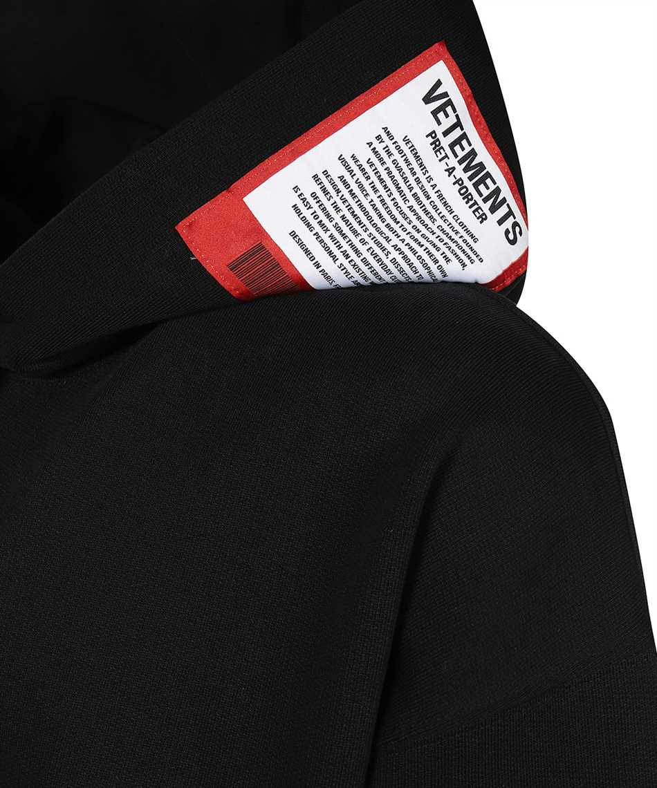 Vetements UE51TR550B LOGO PATCH Hoodie 3