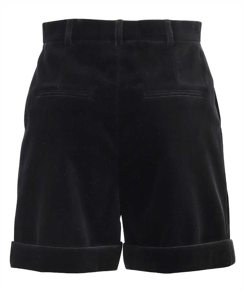 Saint Laurent 661357 Y615W VELVET PLEATED Shorts 2