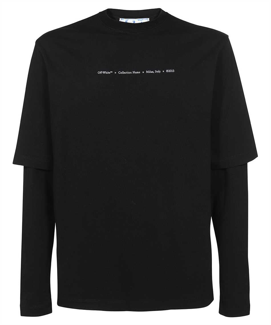 Off-White OMAB066F21JER011 MARKER DOUBLE SLEEVE T-Shirt 1