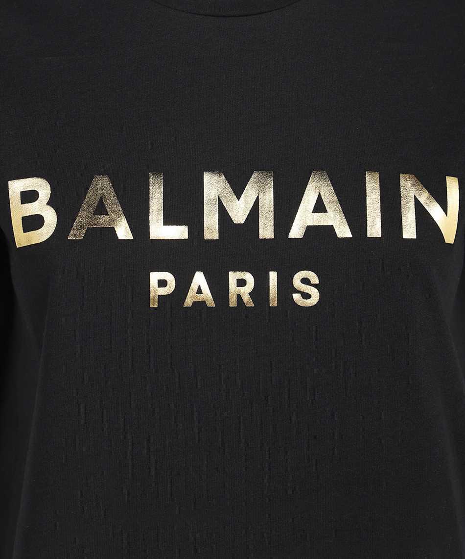 Balmain WF1EF000B097 METALLIC LOGO T-shirt 3