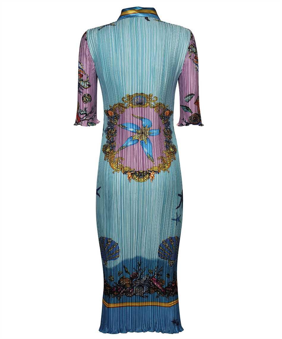 Versace A89232 1F01266 TRÉSOR DE LA MER PRINT PLEATED SHIRT Dress 2