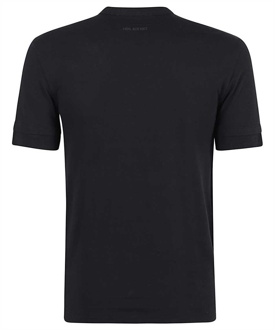 Neil Barrett PBJT886 Q521S TRAVEL HYBRID HENLEY T-Shirt 2