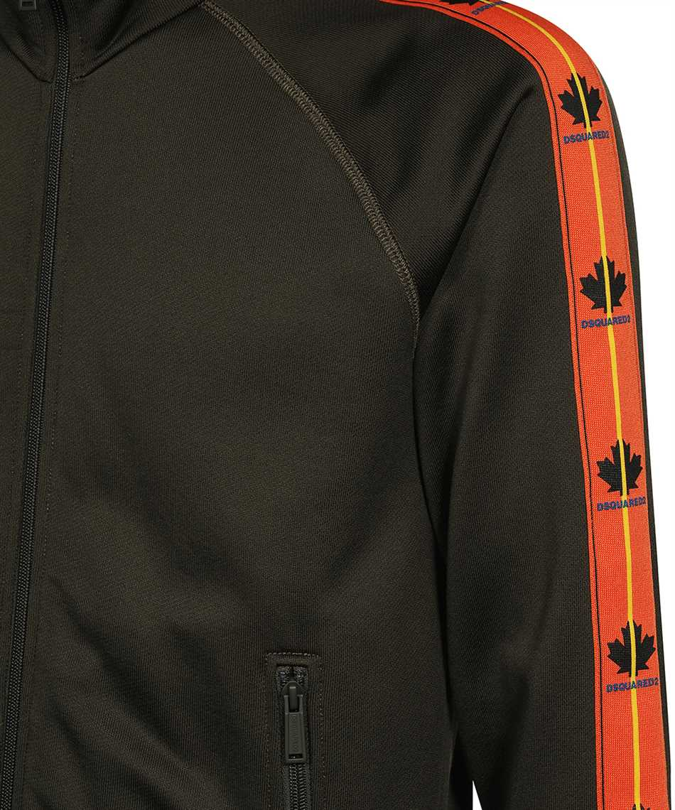 Dsquared2 S74HG0118 S25497 LEAF TAPE ZIP Sweatshirt 3