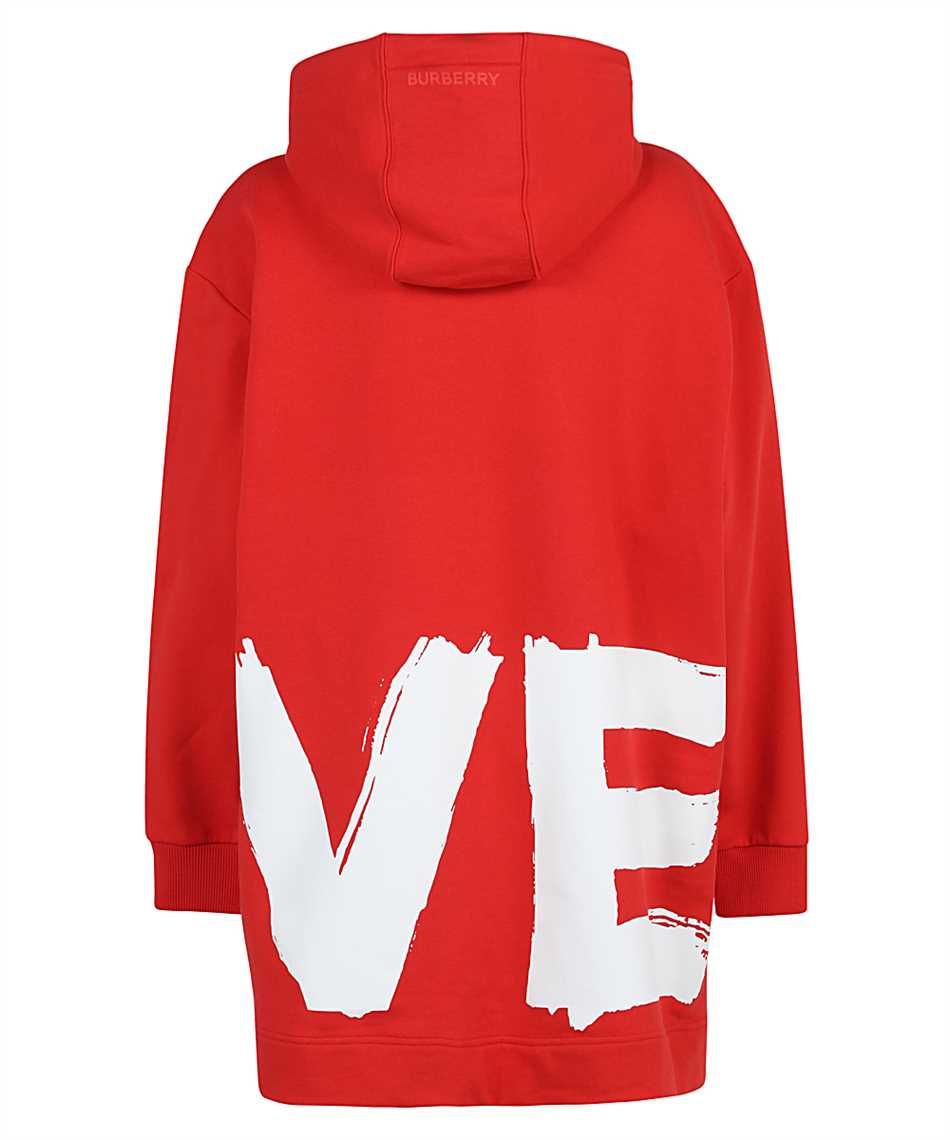 Burberry 8038129 LOVE PRINT COTTON OVERSIZED Kapuzen-Sweatshirt 2