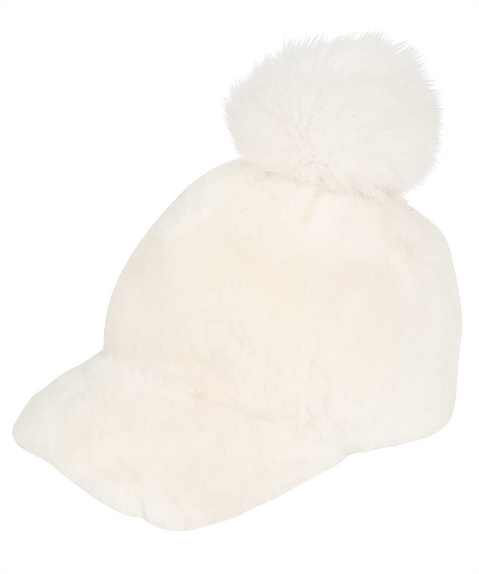 Karl Donoghue CMFPCW1 CASHMERE TOUCH SHEARLING WITH FOX FUR POM Cappello 1
