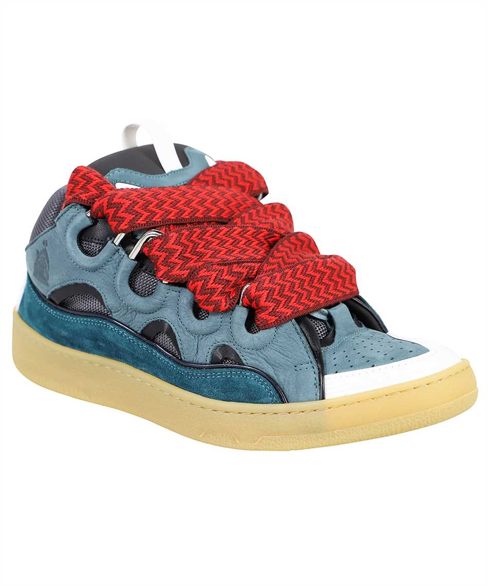 Lanvin FM SKRK11 DRAG A20 LEATHER CURB Sneakers 2