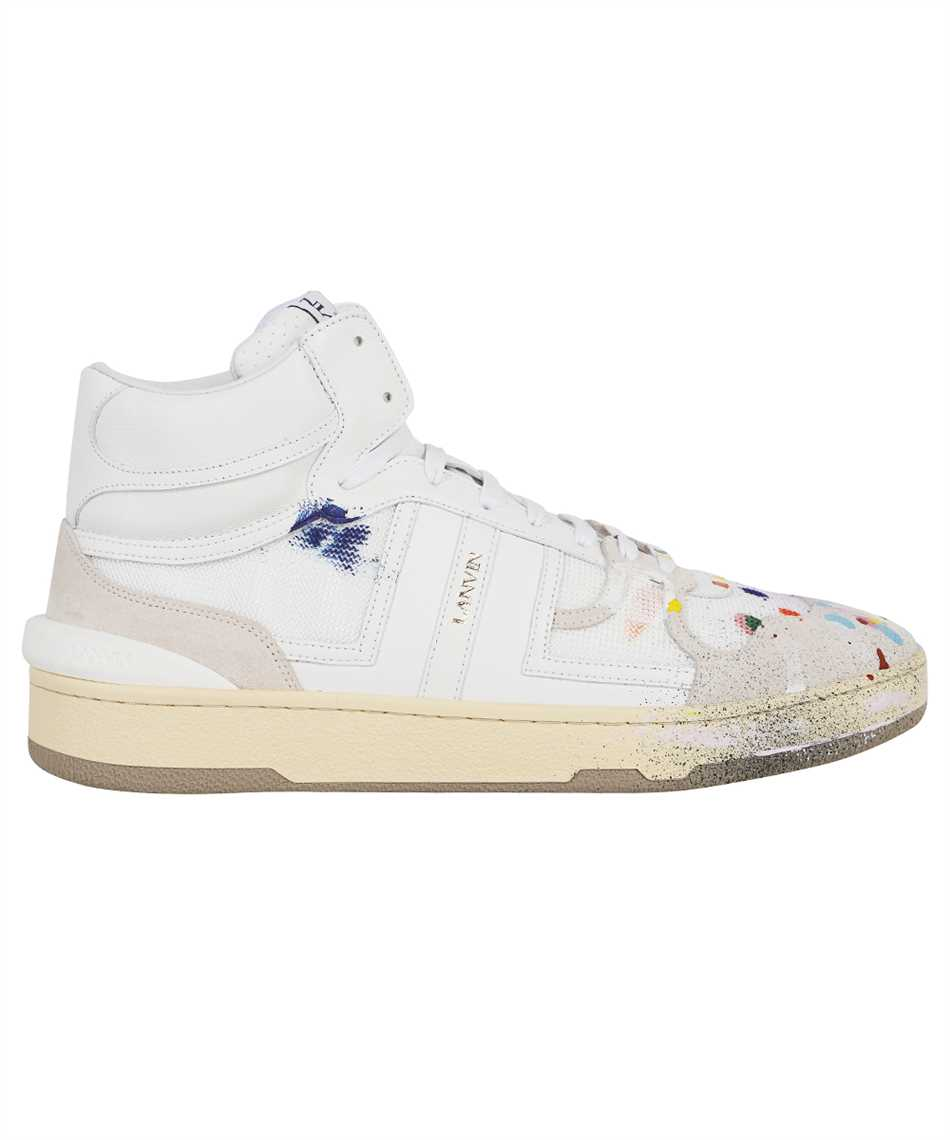 Lanvin FM SKDK01 NAGD E21 PAINTED MESH CLAY HIGH-TOP Sneakers 1