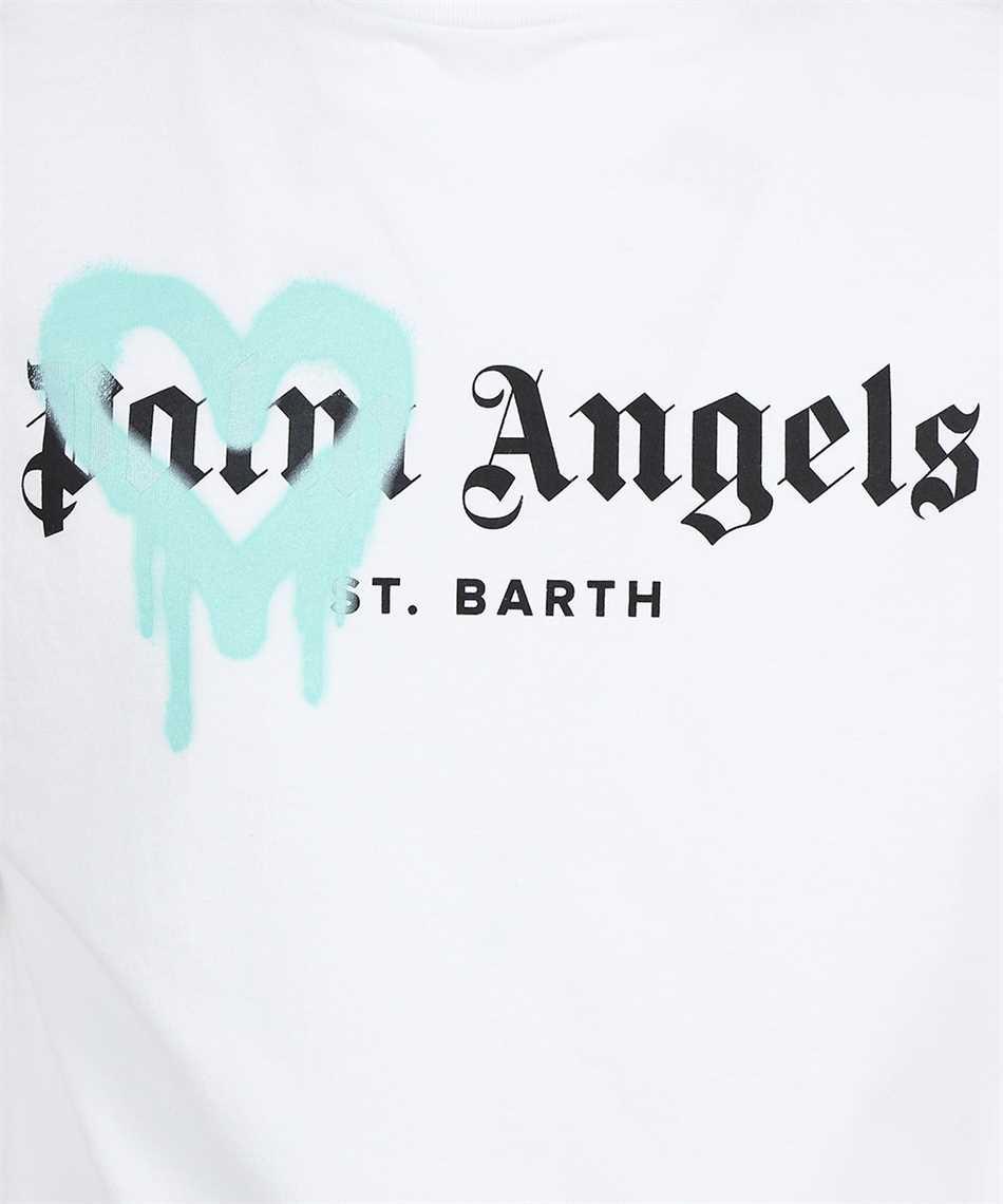 Palm Angels PMAA001F21JER001 ST BARTH HEART SPRAYED T-shirt 3