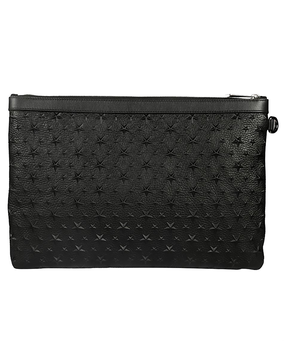 Jimmy Choo Derek Emg Leather Bag In Glamorous Style Black