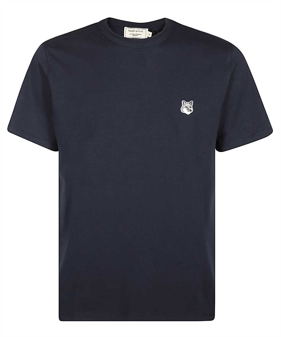 Maison Kitsune GM00118KJ0008 GREY FOX HEAD PATCH CLASSIC T-Shirt 1