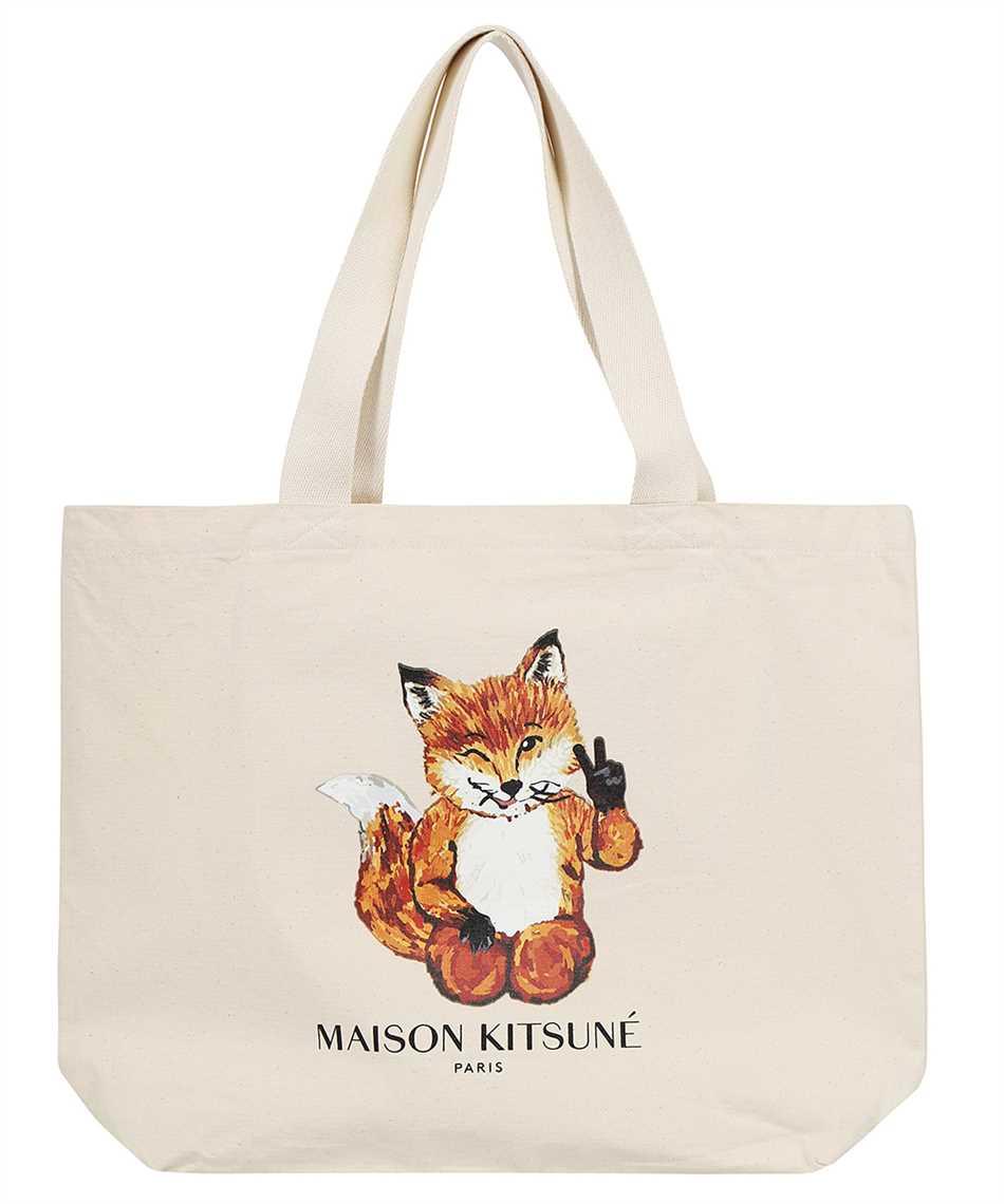 Maison Kitsune HU05133WW0008 ALL-RIGHT FOX XXL TOTE Bag 1