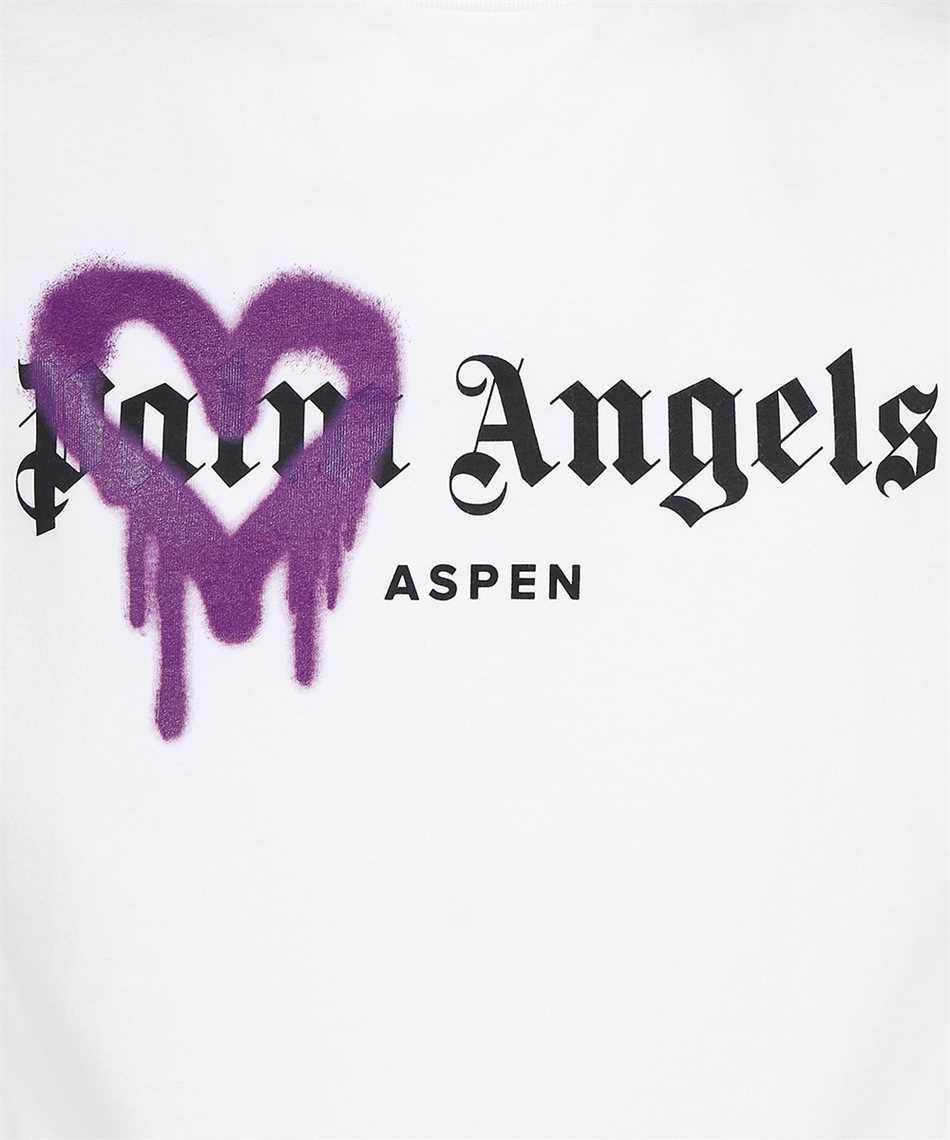 Palm Angels PMAA001F21JER005 ASPEN HEART SPRAYED T-Shirt 3