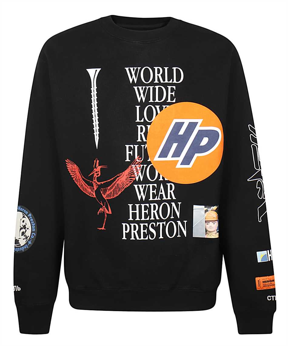 Heron Preston HMBA014F20JER002 COLLAGE Felpa 1