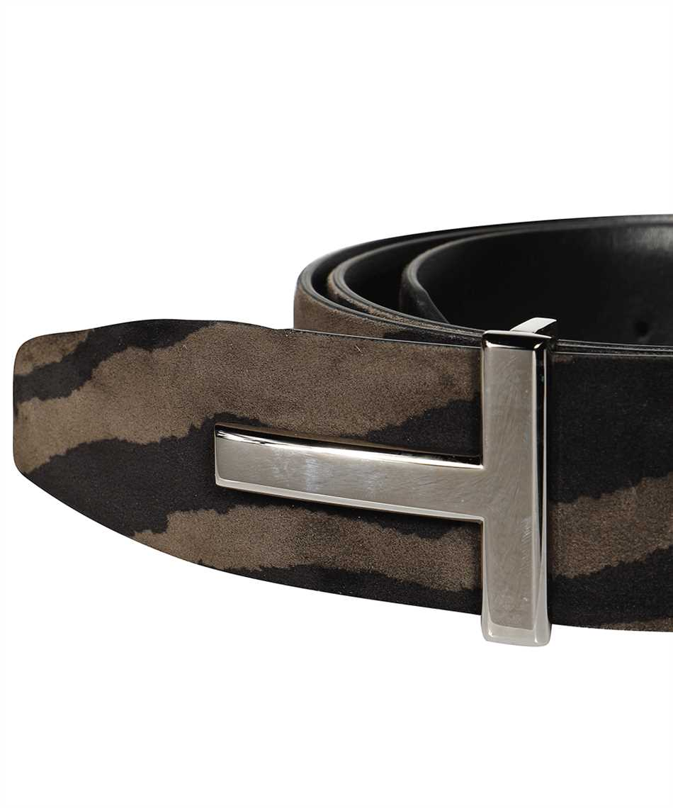 Tom Ford TB178P-LCL078 ZEBRA SUEDE T ICON Belt 3