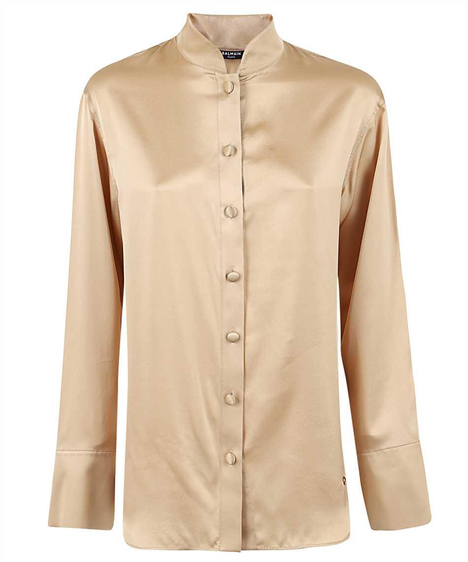 Balmain UF02693111S OVERSIZED SATIN Shirt 1