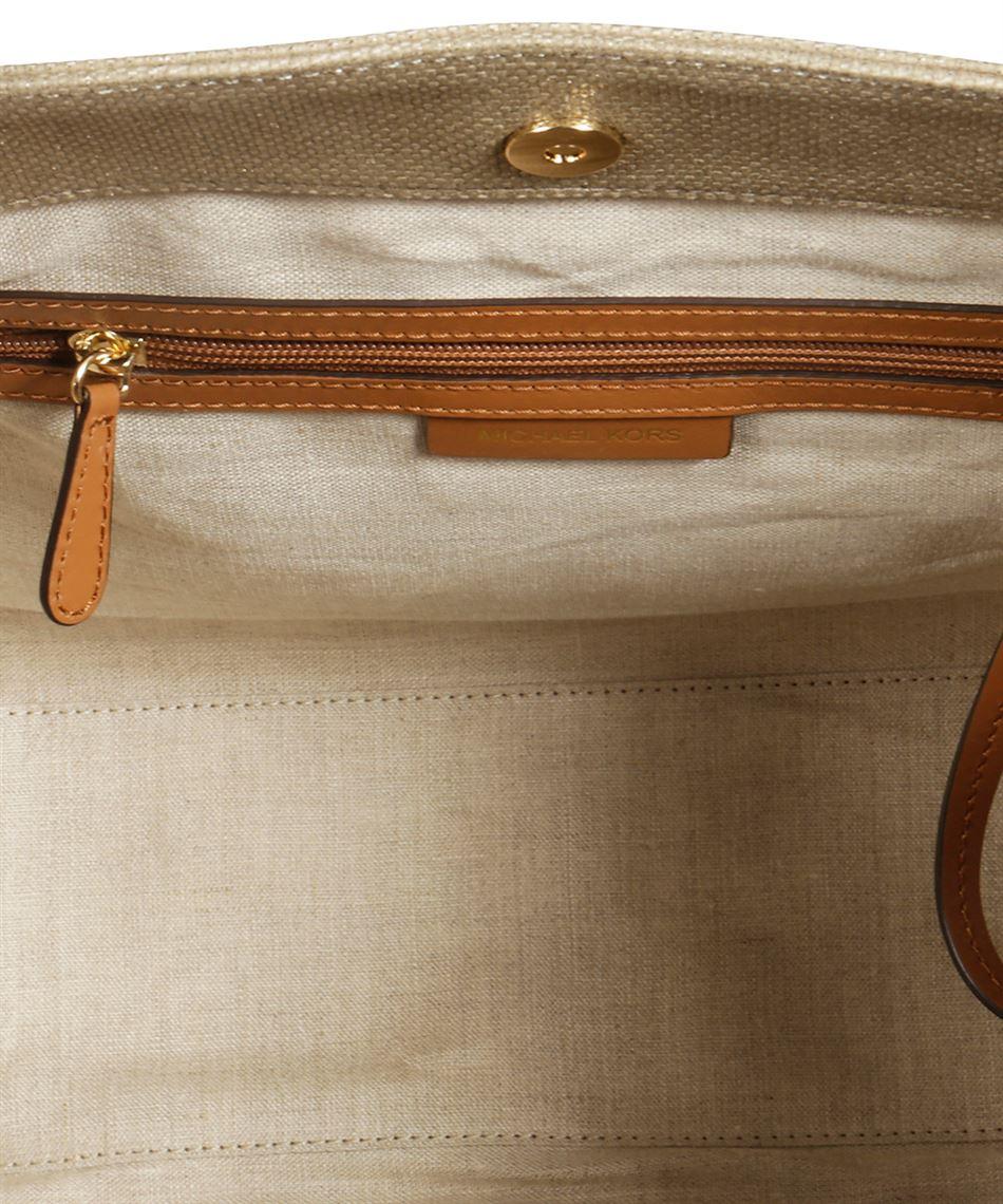 Michael Kors 30S8MZWT9C Damen Tasche aus Baumwoll Canvas Gold