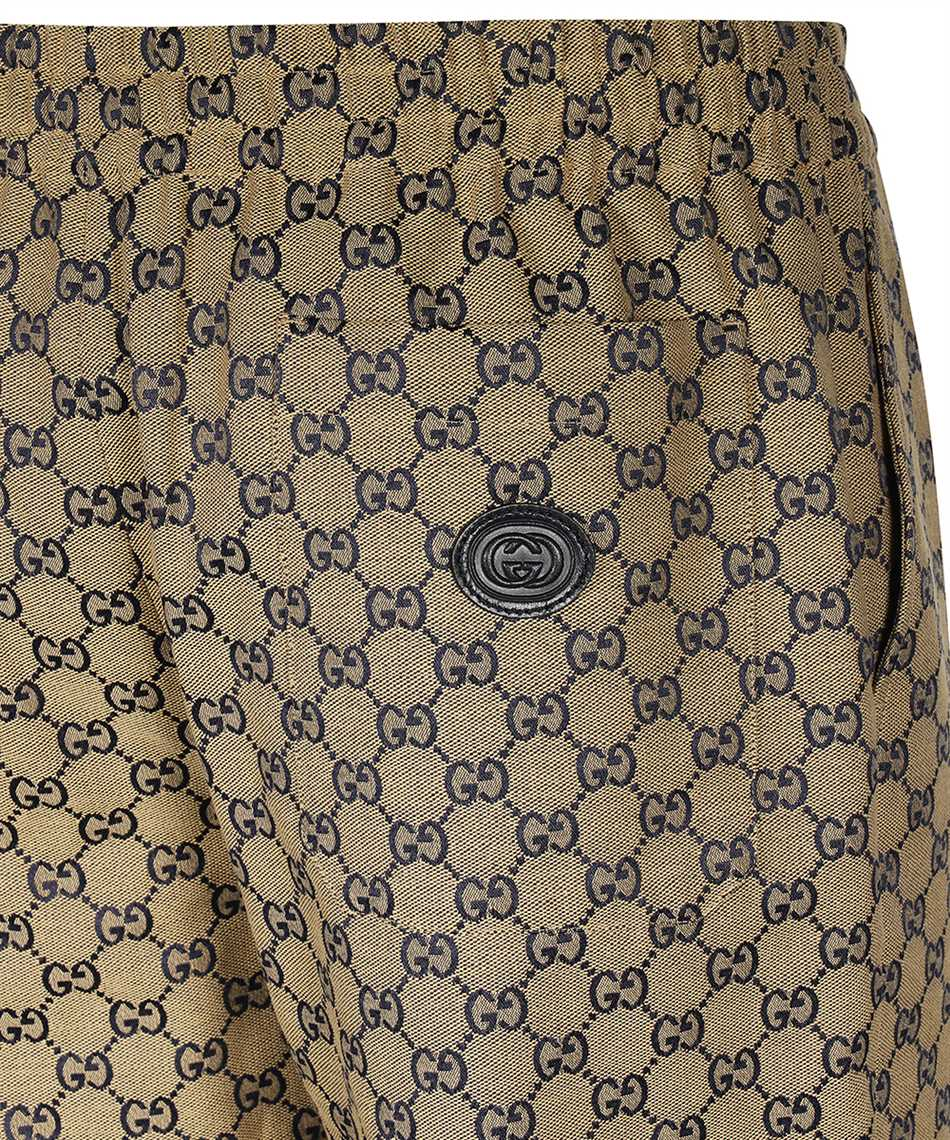 Gucci 658090-Z8AOV GG CANVAS WITH LEATHER INTERLOCKING G Hose 3
